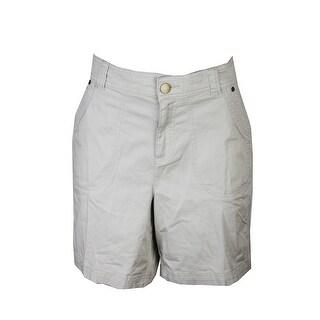 Style & Co Plus Size Beige Mid Rise Shorts W