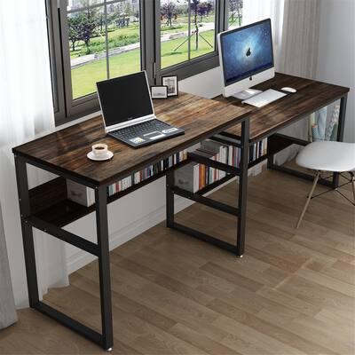 Two Person Desk, Double Computer Desk Sit & Standing Desk