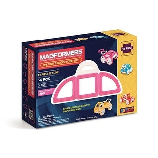 Magformers My First Buggy, Pink 14-Piece Building Set