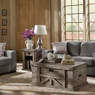 Link to Holt Reclaimed Grey Finish Table Set by iNSPIRE Q Artisan Similar Items in Living Room Furniture