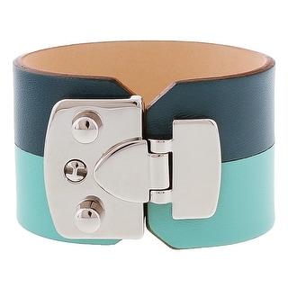 Stamerra BOSSA ACQUA Turquoise Genuine Leather Cuff Bracelet