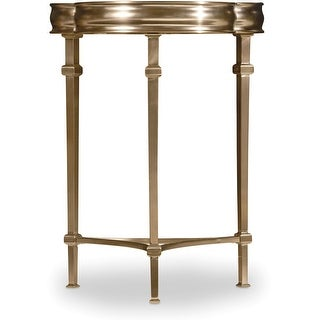 """Hooker Furniture 5443-80117  19-3/4"""" Wide Metal and Stone Accent Table from the Highland Park Collection - Soft Gold"""
