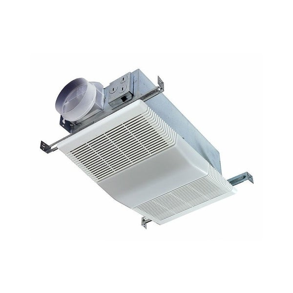NuTone 668RP 70 CFM 4 Sone Ceiling Mounted HVI Certified Bath Fan with Light - white polymeric
