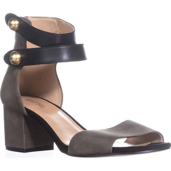 Michael Kors Maisie Mid Block Heel Sandals, Olive/Black - 7.5 us / 38 eu