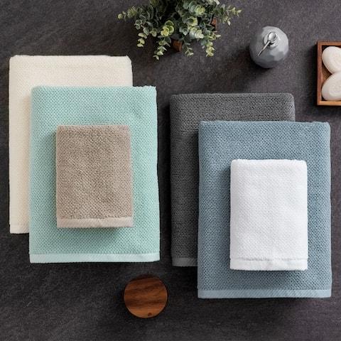 Porch & Den Lomax Cotton Textured 6-piece Towel Set
