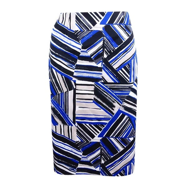 Kasper Women's Abstract-Print Pencil Skirt