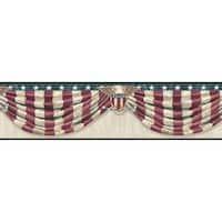 Brewster CTR63172B Lorna Grey Stars & Stripes Forever Border Wallpaper - grey stars and stripes
