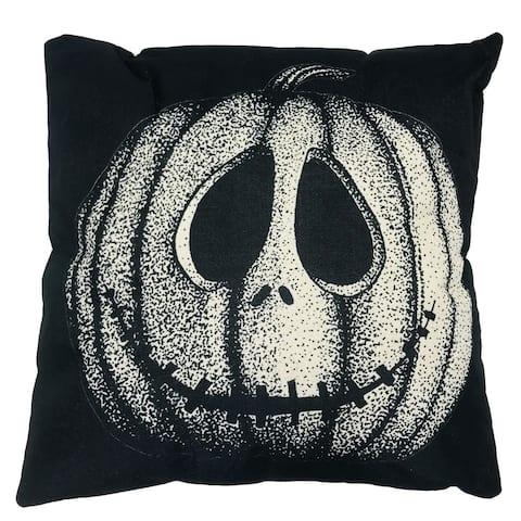 "Pillow Jack O Lantern 17"" Square"