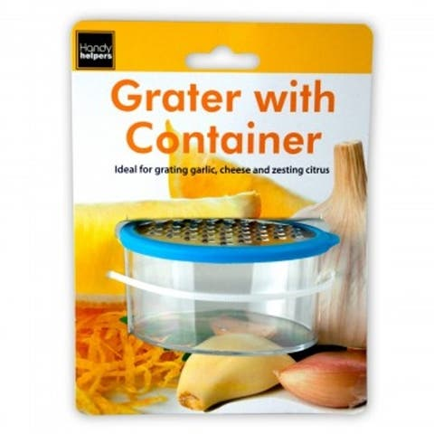 Grater with Container - Ideal for Grating Garlic, Cheese and Zesting Citrus - Random Color