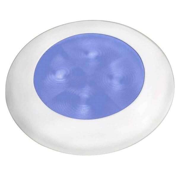 Hella Slim Line Courtesy Hi Intensity Blue White Bezel 12V - 980502241
