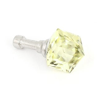 Cell Phone Beige Faux Crystal Accent 3.5mm Anti Dust Ear Cap Stopper