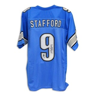 Matthew Stafford Detroit Lions Autographed Blue Jersey