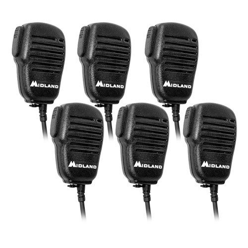 Midland AVPH10 Shoulder Speaker Mic with Dual Pin Connector -6 Pack