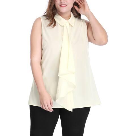 Unique Bargains Women's Plus Size Sleeveless Shirt