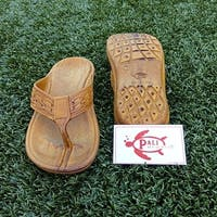 Pali Hawaii SHAKA BROWN Sandals with Certificate of Authenticity