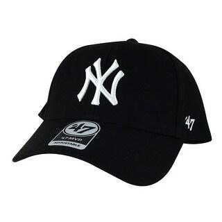 47' Brand MVP Velcro Adjustable Hat - New York yankees Black White ( Custom )