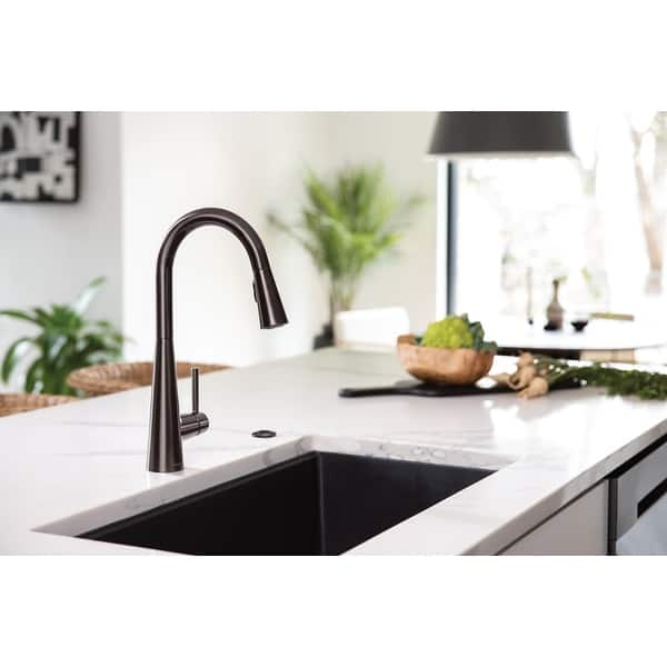 Moen 7864 Sleek 1 5 Gpm Single Hole Pull Down Kitchen Faucet With Overstock 23335844