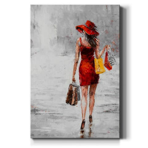 City Shopping II-Premium Gallery Wrapped Canvas - Ready to Hang