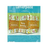 Chic Happy Birthday Table Centerpiece - Pack of 24