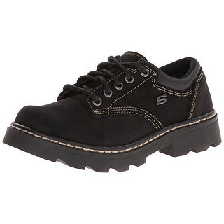 Skechers Parties Mate Womens Casual Oxfords Shoes Black