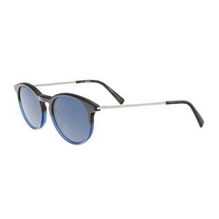 Montblanc MB549/S 56V Blue/Black Round Sunglasses - 49-20-145