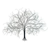 Black Tree Wall Decor Sculpture - Handcrafted Metal Art - 39 in. x 28 in.