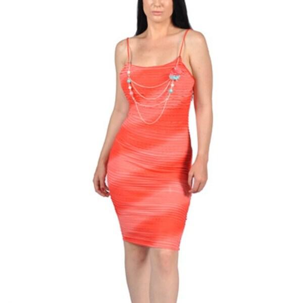 d4a348cfa6528 Womens Fashion Diagonal Design Ruffles Orange Dress