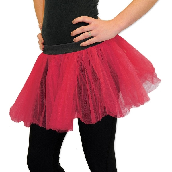 """40428eccf1 Shop Club Pack of 12 Fluffy Red Ballerina Tutu Skirt 12"""" - Free Shipping  Today - Overstock - 20763198"""
