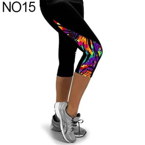 Women Fashion Triangle Paneled Slimming Pants Leggings Running Yoga Sport Gym Pants