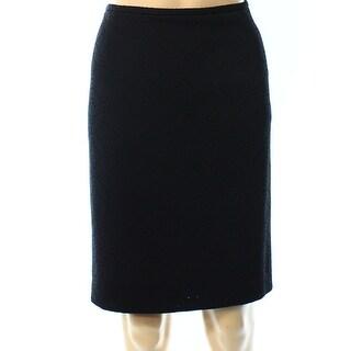 Calvin Klein NEW Black Women's Size 12P Petite Straight Pencil Skirt