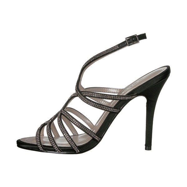 Caparros Womens helena Fabric Open Toe Special Occasion Slingback Sandals