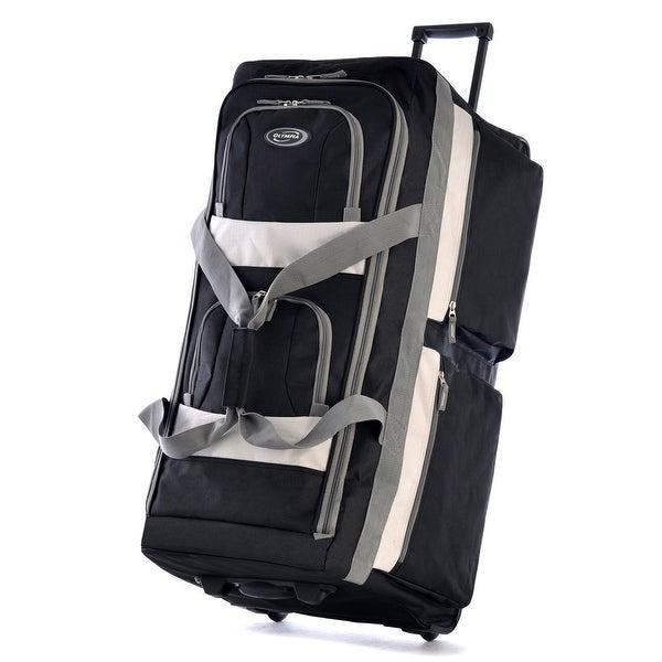 """Olympia Luggage 33"""" 8 Pocket Rolling Duffel Bag"""