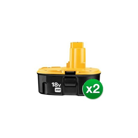 Replacement Power Tool Battery For DEWALT DC9096 - NiMH / 3000mAh / 18v (2 Pack)