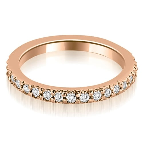Petite 0.40 ct.tw 14K Rose Gold Round Cut Stackable Diamond Eternity Ring HI, SI1-2