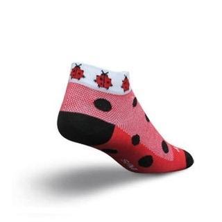 SockGuy Women's 1in Lady Bugs Cycling/Running Socks - Size S/M - SGLCLAD