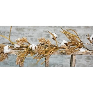 Cotton & Fall Grass Garland 5ft