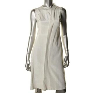 A.W.A.K.E Womens Moire Silk Sleeveless Wear to Work Dress - 34