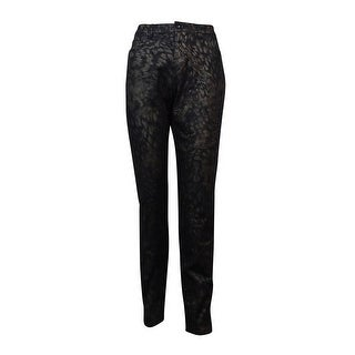 Style & Co. Women's Skinny Leg Shimmer Metallic Jeans - animal foil gold