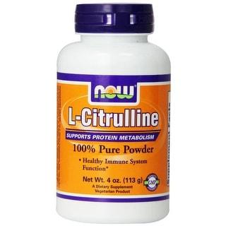 NOW Foods L-Citrulline Powder, 4 ounce
