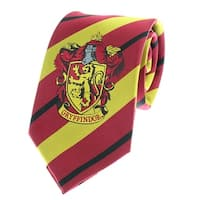 Premium Harry Potter Tie Striped House Crest Necktie Neckwear - One Size Fits Most
