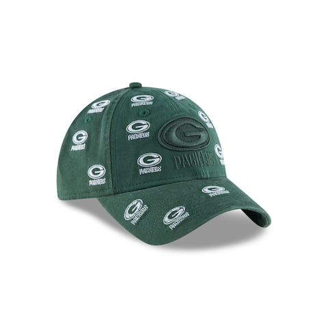 Green Bay Packers Logo Scatter 9TWENTY Women's Adjustable Hat