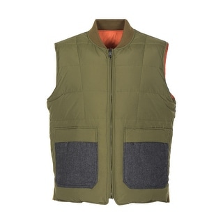 Tommy Hilfiger Middlebury Premium Reversible Puffer Vest Small S Green Down Fill