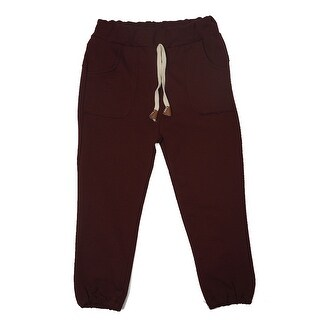TG2601 Unisex Children's Cotton Trousers Linen Pants Spring Autumn Trousers Warm and Soft Red