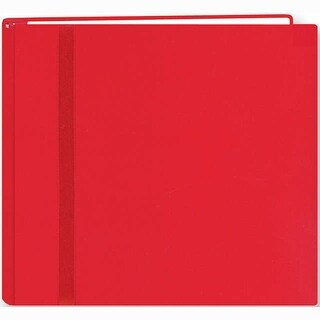 "Snapload Cloth W/Ribbon Album 8""X8""-Red - Red"