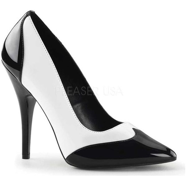 a938d8286f0 Shop Pleaser Women s Seduce 425 Black White Patent - Free Shipping On  Orders Over  45 - Overstock - 22879253