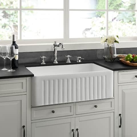 """Delice 30 x 18 Ceramic, Farmhouse Kitchen Sink - 30"""" x 18"""""""