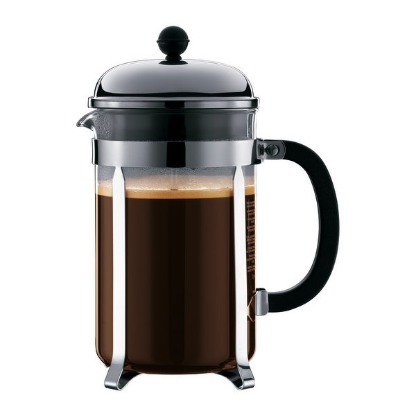 Chambord French Press Coffee Maker with Shatterproof Carafe, 51 Ounce, Chrome - 51 Ounce. Opens flyout.