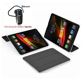 """Indigi® 7.0"""" HD Unlocked 3G (2-in-1) Android 4.4 SmartPhone&TabletPC w/ Built-in Smart Cover (Black)+ Bluetooth Included"""