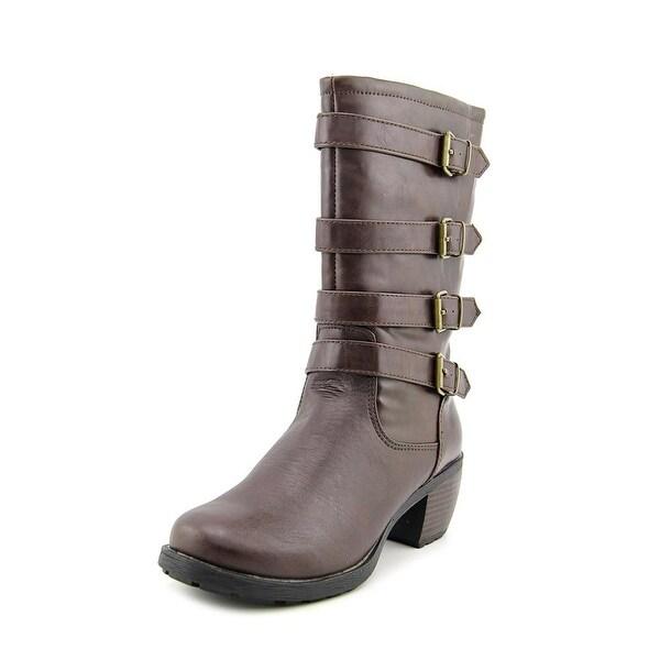Khombu Jean Round Toe Synthetic Boot