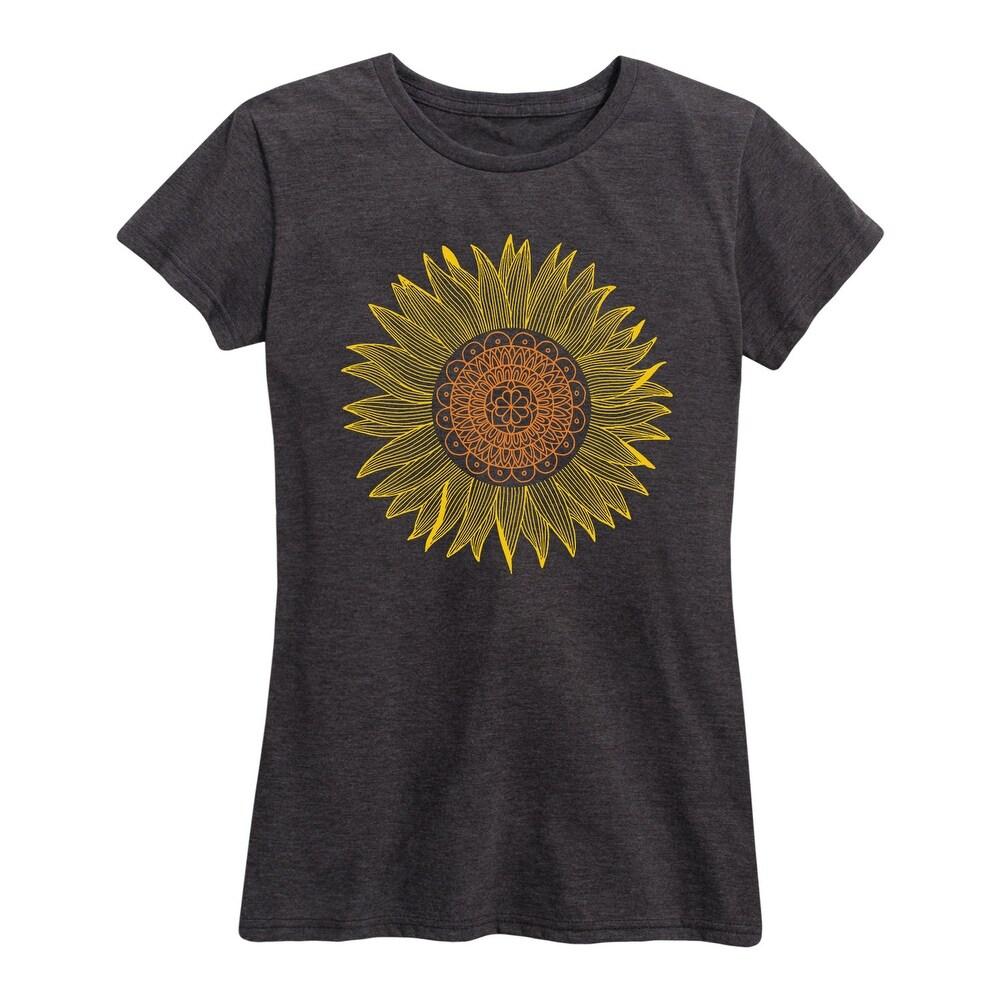 Sunflower Mandala - Womens Short Sleeve Graphic T-Shirt
